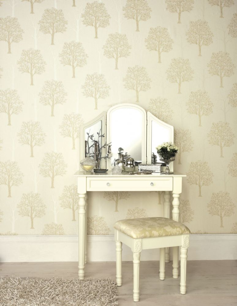 Holden Decor Ornella Tree Cream 35250 Wallpaper